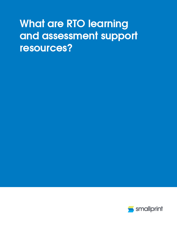 What are RTO learning and assessment support resources?